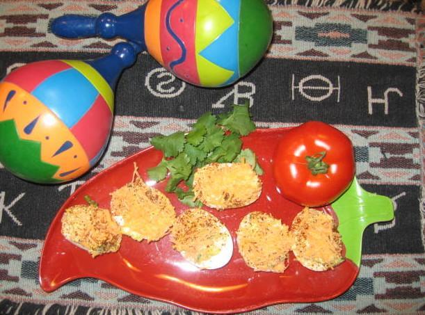 Tex Mex Deviled Eggs