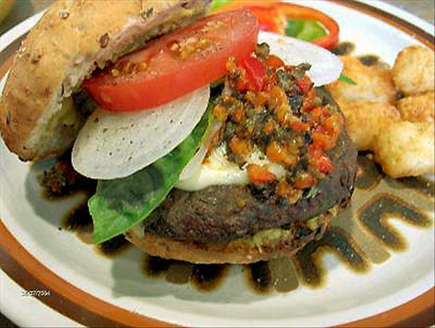 Basil Mozzarella Burgers