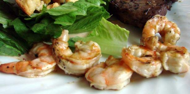 grilled rummy shrimp