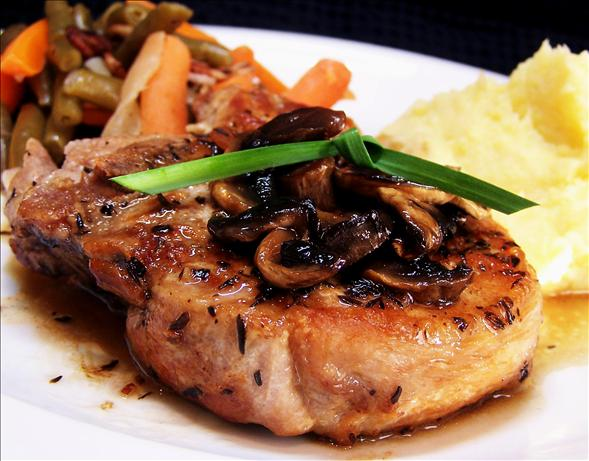 Pan Grilled Pork Chops