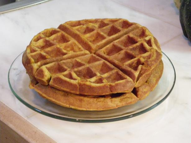 Spiced Pumpkin Waffles
