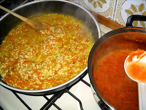 Quick Risotto With Carrots and Feta