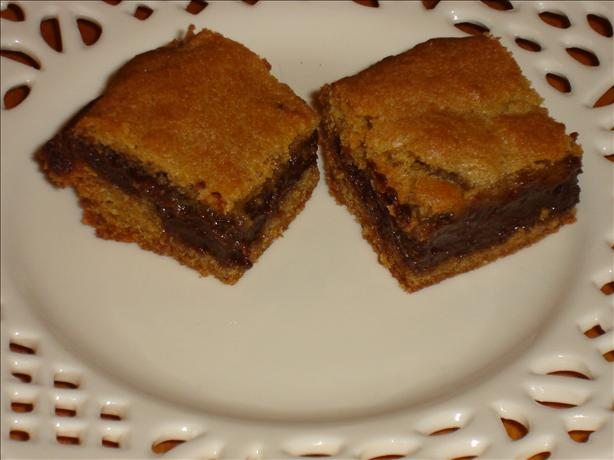 Fudge-Filled Blondies