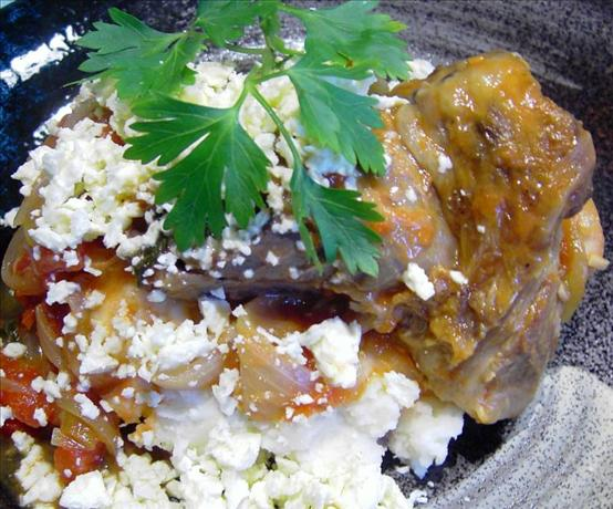 Lamb Shanks with Oregano and Feta