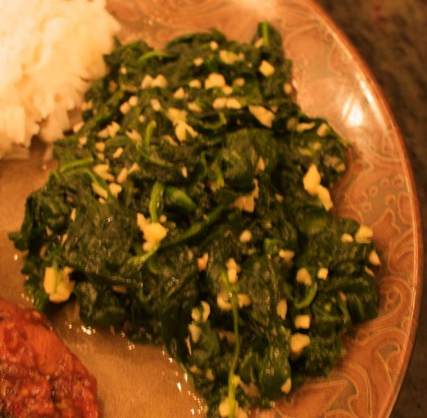 Wilted Spinach with Orange & Ginger