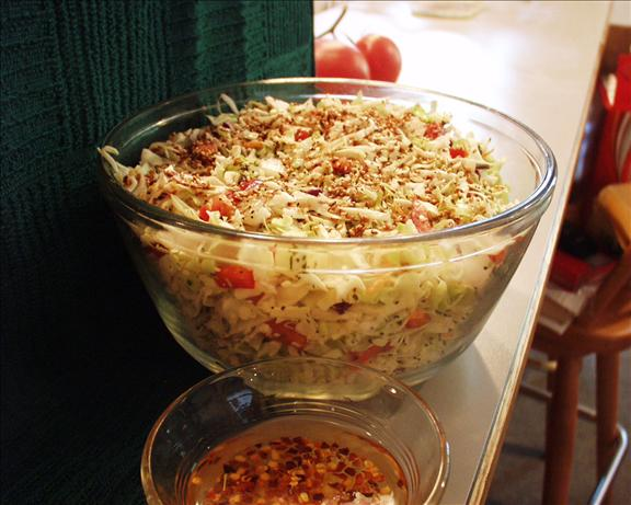 Thai Flavored Coleslaw Salad