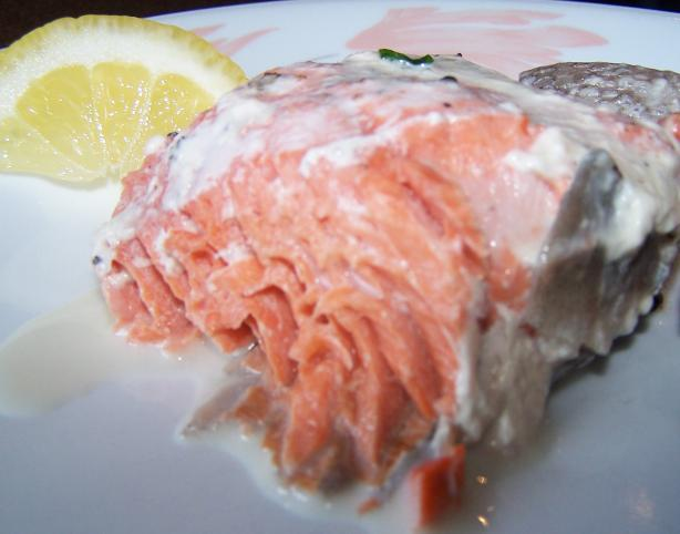 Salmon in Cream