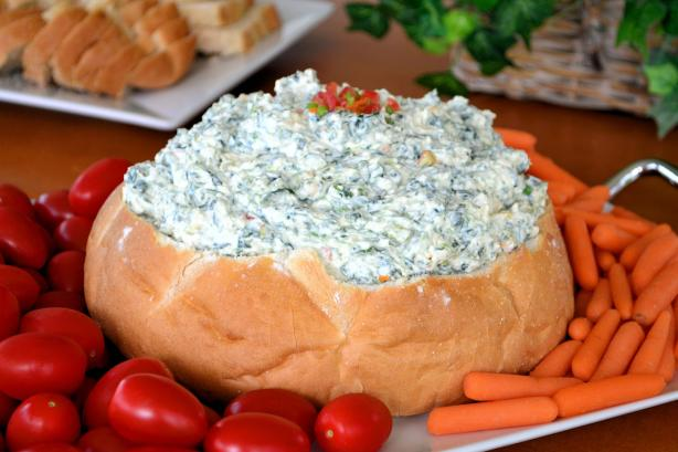 Spinach Dip a Lighter Version
