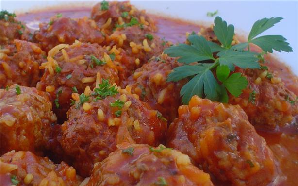 Chili Porcupine Meatballs