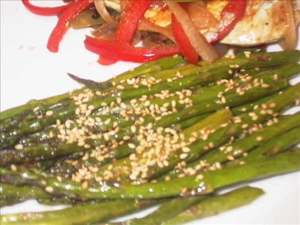 Mean Chef's Asparagus With Orange-Sesame Butter
