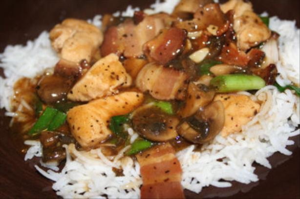 Asian Style Chicken Breasts and Bacon
