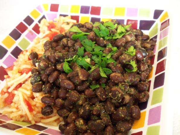 Black Beans with Cumin and Garlic
