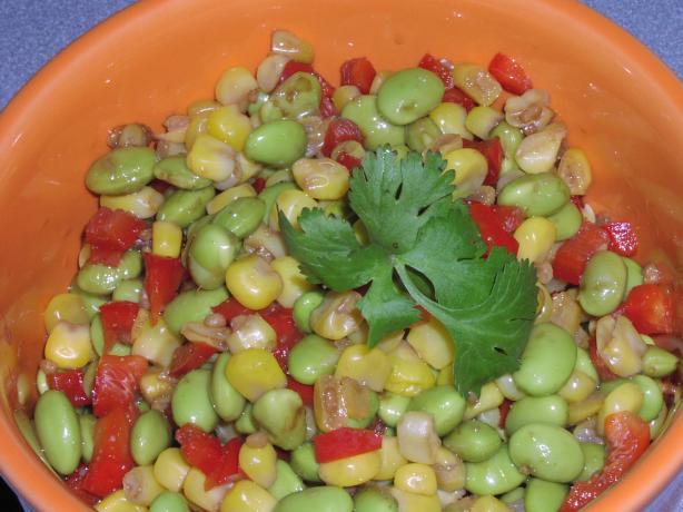 Edamame (Soybean) & Corn Salad