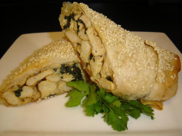 Chicken Spinach Strudel