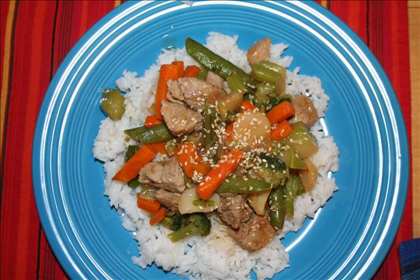 Sesame Pork and Broccoli