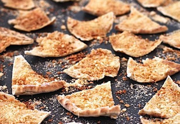 Spiced 'shake 'n' Bake' Pita Chips