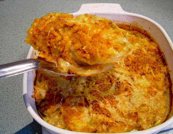 Potato Gratin with Mustard and Cheddar Cheese