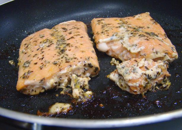 Orange Basil Sauce over Salmon Fillets
