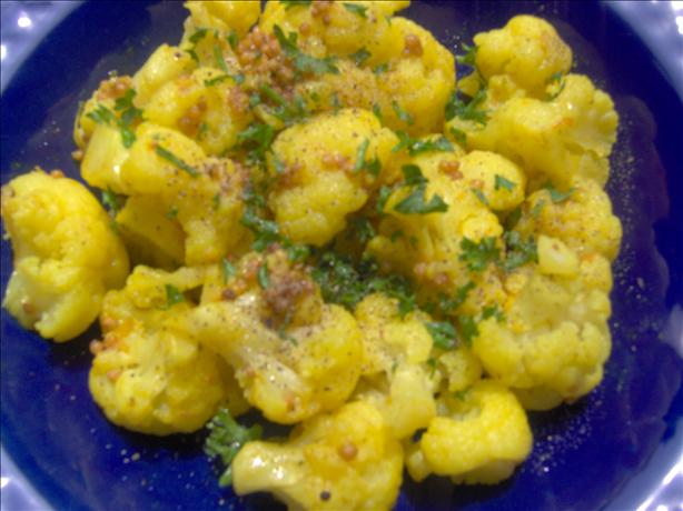 Cauliflower with Ginger and Mustard Seeds