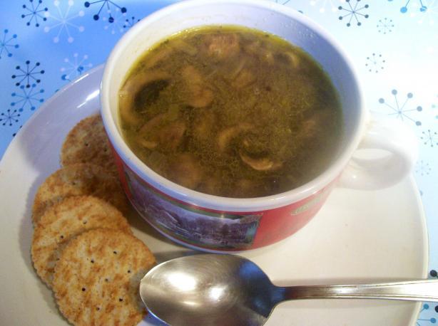 Moosewood Mushroom Barley Soup!