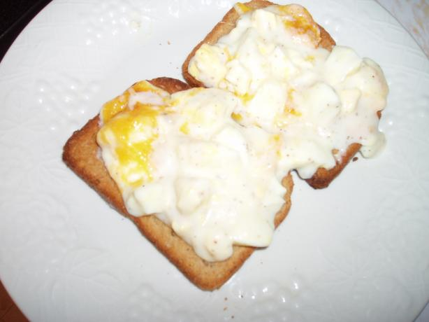 Gratin Eggs on Toast
