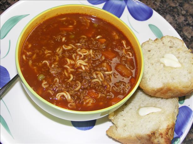 Ramen Noodle Vegetable Soup