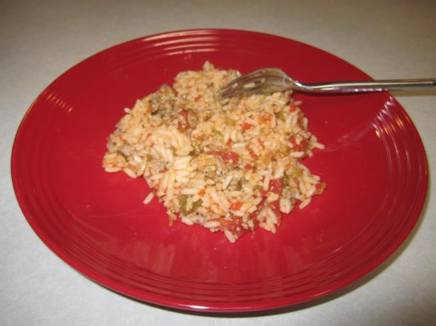 Slow-Cooked Sausage Spanish Rice
