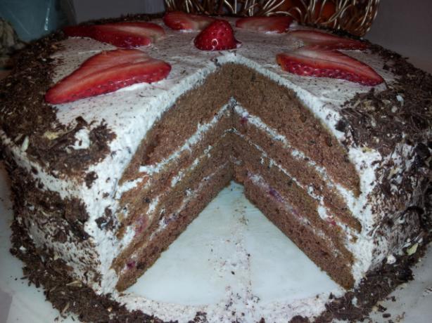 Burning Love Chocolate Cream Cake