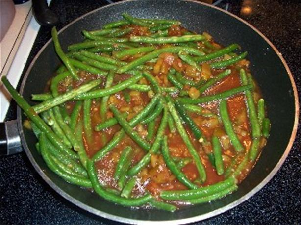 Salsa and Chiles Green Beans