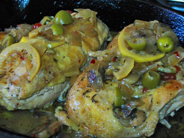 Everyday Food Lemon and Olive Chicken