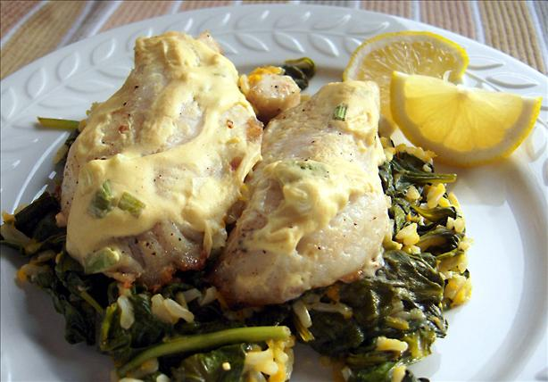 Red Snapper with Mustard Sauce