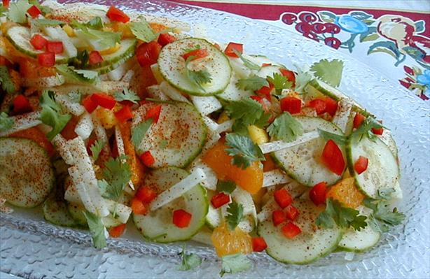 Jicama With Orange, Cucumber, Mango, Red Chile & Lime