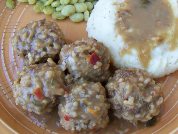 Beef Porcupine Balls