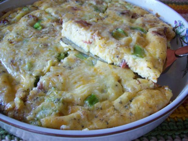 Crustless Quiche Square