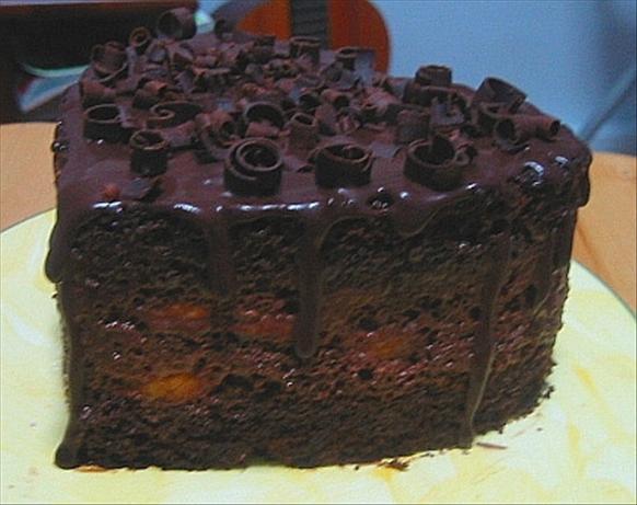 Chocolate Layer Cake with Chocolate Glaze