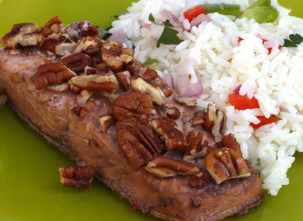 Maple-Pecan Glazed Salmon