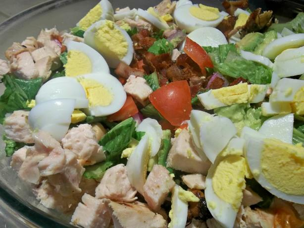 Chopped Cobb Salad (No Cheese!!)