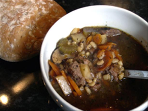 beef barley stew/soup