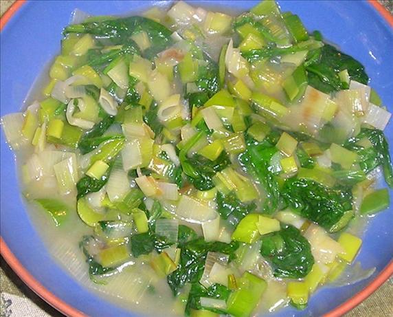Leeks & Spinach
