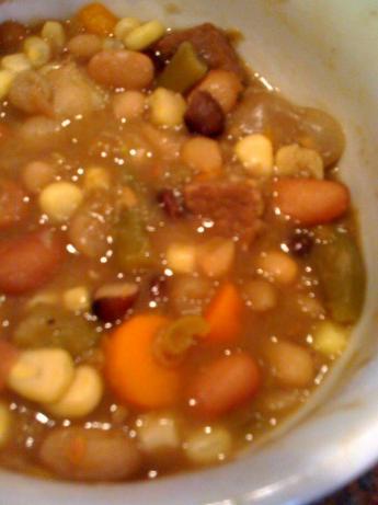 Beef Veggie Bean Soup