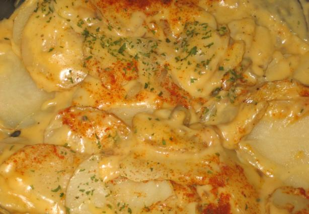 Microwave Scalloped Potatoes