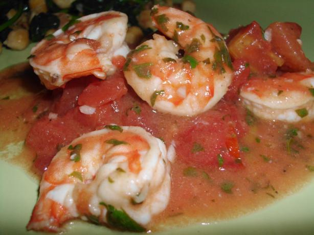 Shrimp with Lime, Cilantro and Tomatoes