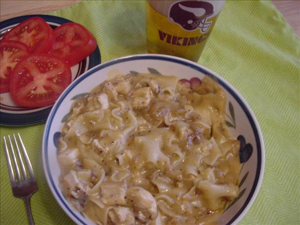 Chicken and Pasta in Wine Cheddar Sauce