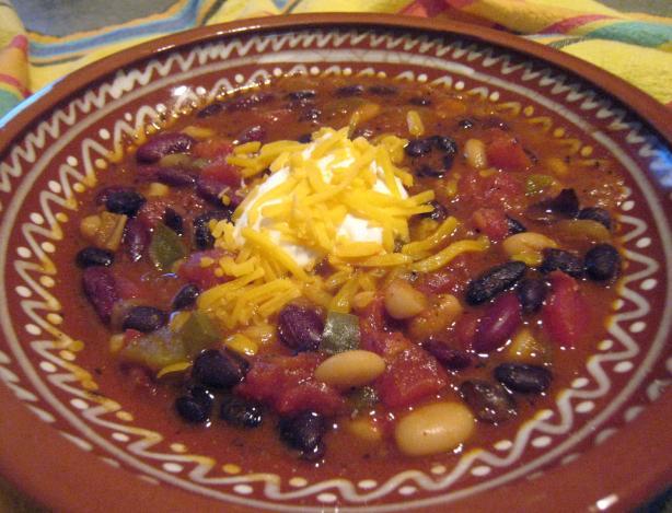 Quick & Easy California 3-Bean Chili