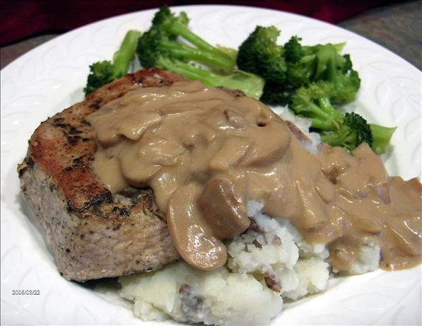 Browned Pork Chops with Gravy