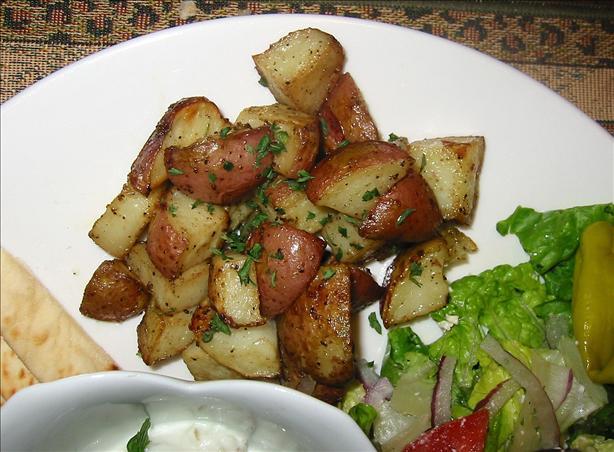 Oven Roast Greek Potatoes