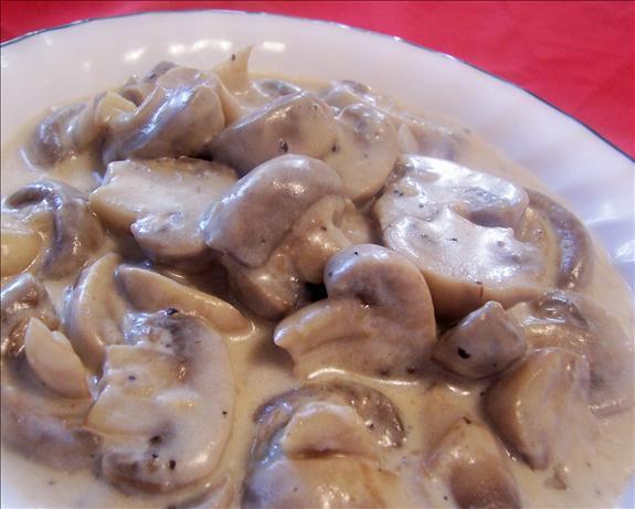 Fresh Creamy Mushrooms.