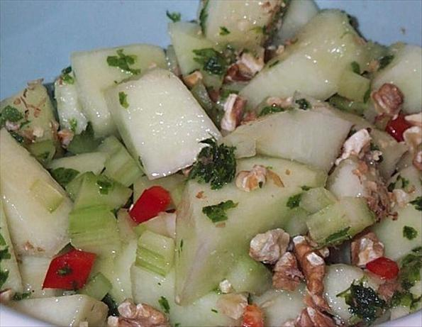 Honeydew Walnut Salad