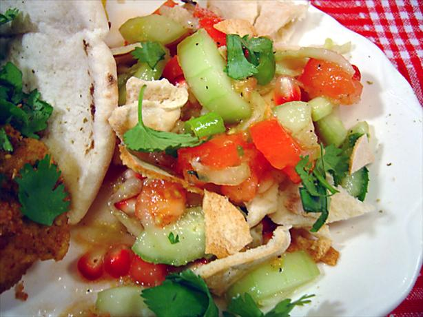 Fattoush - Pita and Pomegranate Salad
