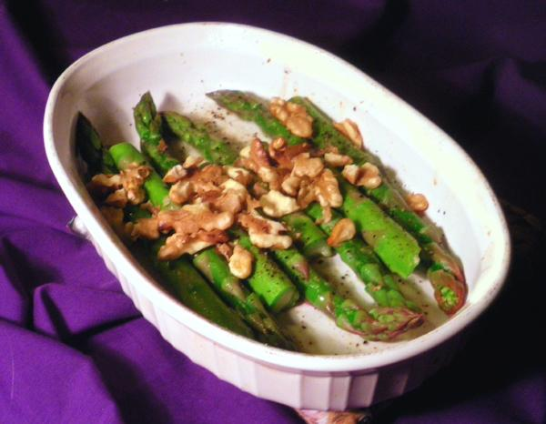 Baked Asparagus With Toasted Walnuts